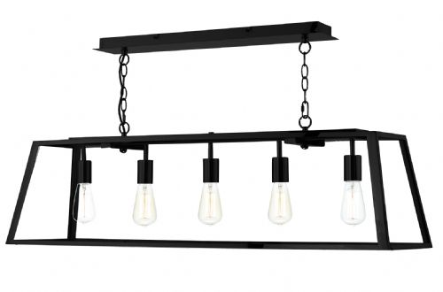 Academy 5 Light Pendant Black (Class 2 Double Insulated) BXACA0522-17